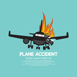 Doomed Plane Accident On Fire Stock Photo