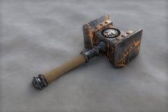 Doomhammer. Doom hammer illustration Stock Photo