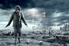 Doomsday Apocalypse Scenario. Illustration of an Apocalypse postnuclear Doomsday scenario Stock Photo