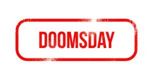 Doomsday - red grunge rubber, stamp.  royalty free illustration