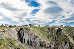 Doon houses on the cliff edge Royalty Free Stock Images
