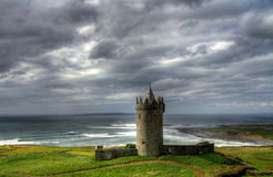 Doonagore Castle. Irish castle on the west coastline Royalty Free Stock Photo