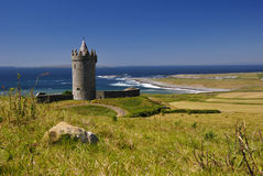 Doonagore castle. In summer day light Royalty Free Stock Image