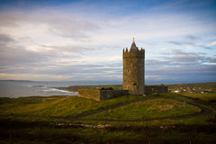 Doonagore Castle. On the Atlantic Ocean at Doolin Point in County Clare, Ireland Stock Photography