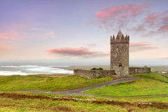 Doonagore castle at amazing sunset Royalty Free Stock Image