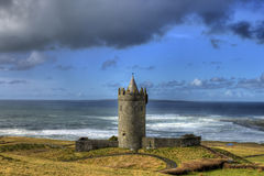 Doonagore castle in doolin , Ireland. Royalty Free Stock Photo