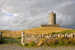 Doonagore Castle, west of Ireland. Doonagore Castle at dusk, near Doolin bay, west of Ireland Stock Photos