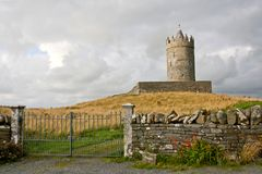 Doonagore Castle, west of Ireland. Doonagore Castle at dusk, near Doolin bay, west of Ireland Royalty Free Stock Photography
