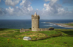 Doonagore castle in Ireland Royalty Free Stock Images