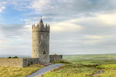 Doonagore castle in Ireland. Royalty Free Stock Photography