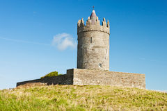 Doonagore Castle in Ireland. Doonagore Castle is a round 16th-century tower house Royalty Free Stock Image