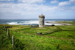 Doonagore Castle in Ireland. Doonagore Castle in County Clare on the Wild Atlantic Way route, in Ireland Royalty Free Stock Photos