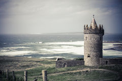 Doonagore Castle in Ireland. Doonagore Castle in County Clare on the Wild Atlantic Way route, in Ireland Royalty Free Stock Image