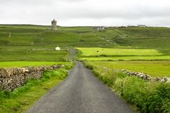 Doonagore castle near Doolin in Ireland, Europe. Doonagore castle near Doolin in Ireland royalty free stock image