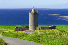 Doonagore slott i Co. Clare Arkivfoton