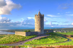 Doonegore castle in Doolin Royalty Free Stock Image