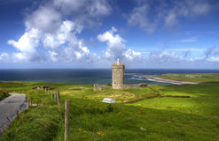 Doonegore castle in Ireland Royalty Free Stock Photography