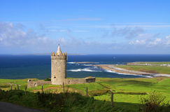 Doonegore castle in Ireland Stock Photography