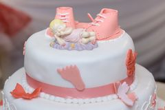 Doop cake met suikerschoenen stock foto's
