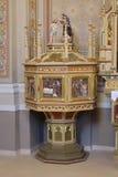 Doopdoopvont in de kerk van Heilige Matthew in Stitar, Kroatië Royalty-vrije Stock Foto's