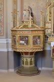 Doopdoopvont in de kerk van Heilige Matthew in Stitar, Kroatië Royalty-vrije Stock Afbeelding