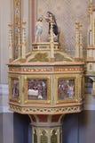 Doopdoopvont in de kerk van Heilige Matthew in Stitar, Kroatië Royalty-vrije Stock Fotografie