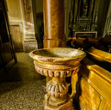 Doopdoopvont van de Heilige Margherita Church Royalty-vrije Stock Afbeelding