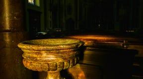 Doopdoopvont van de Heilige Margherita Church Stock Afbeeldingen