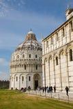 Doopkapel en kathedraal, Pisa Royalty-vrije Stock Foto