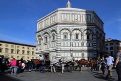 Doopkapel van de kathedraal van Florence, Italië Stock Foto's