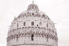 Doopkapel van de Kathedraal van Pisa, Toscanië, Italië Stock Foto