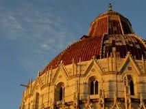Doopkapel van St John in Pisa Italië Stock Afbeelding