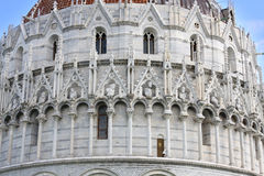 Doopkapel van St. John in Pisa, Toscanië, Italië Royalty-vrije Stock Afbeelding