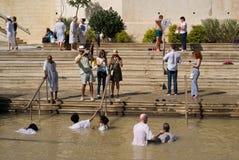 Doopplaats op Jordan River, Qasr al-Yahud, Israël Stock Fotografie