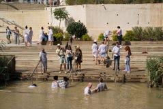 Doopplaats op Jordan River, Qasr al-Yahud, Israël Stock Afbeelding