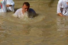 Doopplaats op Jordan River, Qasr al-Yahud, Israël Royalty-vrije Stock Foto