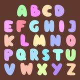 Doopvont abc type stileerde het vectorontwerp lettersoort en het alfabet van het brievensymbool de creatieve van letters voorzien Stock Afbeeldingen