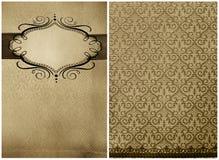 Doopvont en rug, samenvatting van Grunge restaurantmenu Royalty-vrije Stock Foto's