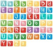 Doopvontontwerp met Engelse alfabetten royalty-vrije illustratie