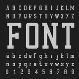 Doopvontvector, Typeletters en getallen Royalty-vrije Stock Afbeeldingen
