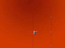 Door 1. Door in wall same color aswall Stock Images