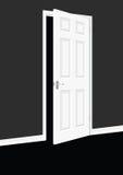 Door. Open white door within wall Stock Illustration
