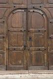 Door. Big wooden door in a historical building Royalty Free Stock Photo