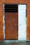 Door. Old metal door at building royalty free stock photo