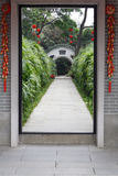 Door. Way of Chinese garden Stock Photography