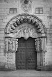 Door. A door with beauty stone figures Stock Photo