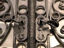 Door. Detail of the old metal door stock photography