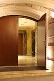 The door. Modern luxury door night view Royalty Free Stock Images