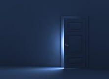 Door. 3d render illustration.Open the door Stock Images