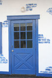 Door. Pretty blue door Stock Photos